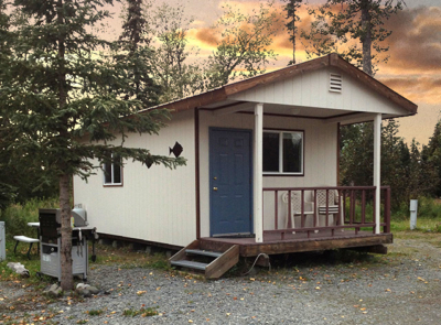 A Gotta Fish Charters cabin available for lodging in Ninilchik