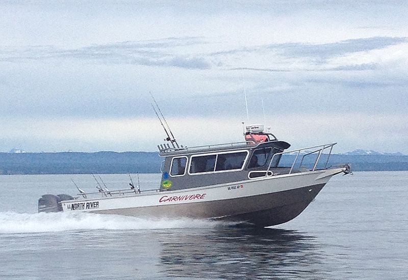 "The ""Carnivore"", a halibut fishing charter boat in Ninilchik owned by Gotta Fish Charters"